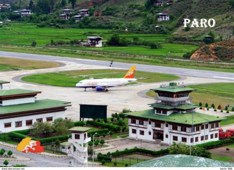 Bhutan Paro International Airport New Postcard Flughafen AK - Bhoutan