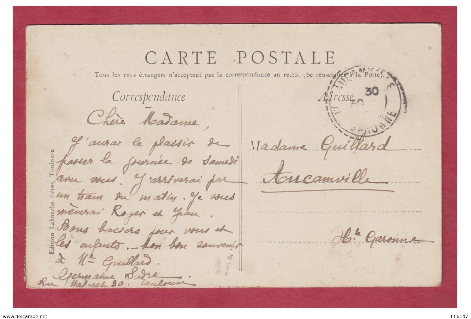 FRANCE -- HAUTE GARONNE --TOULOUSE -- UN BONJOUR DE TOULOUSE-- CP 1910-- - Toulouse