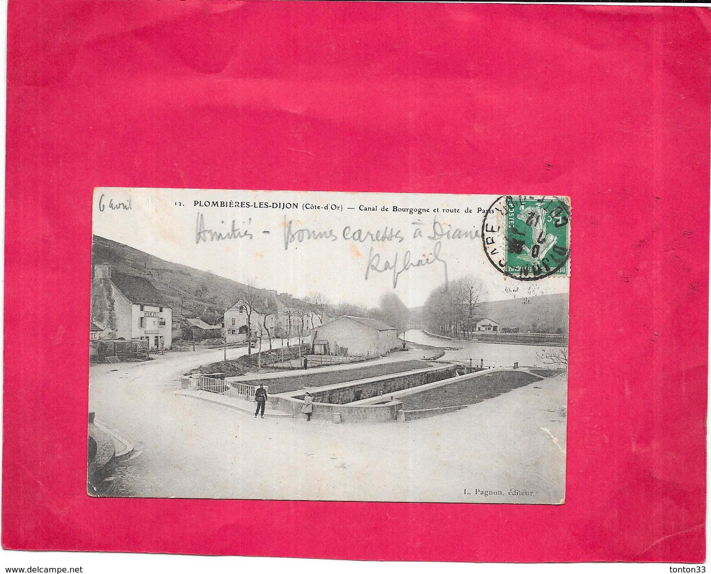 PLOMBIERES LES DIJON - 21 - Canal De Bourgogne Et Route De Paris - BES - - France