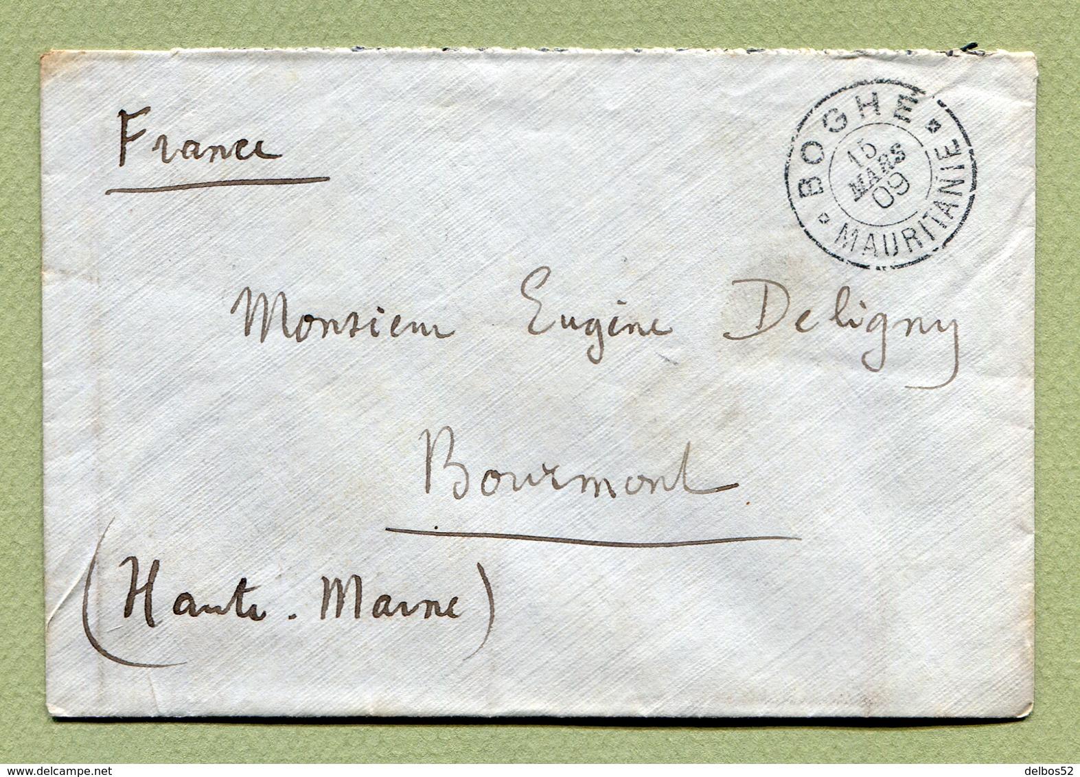 BOGHE ( MAURITANIE )  : LETTRE De 1909 Pour BOURMONT - Mauritanie (1906-1944)