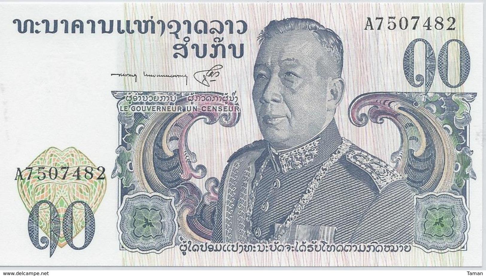 Laos  10 Kip   Nd(1974)   -- UNC -- - Laos