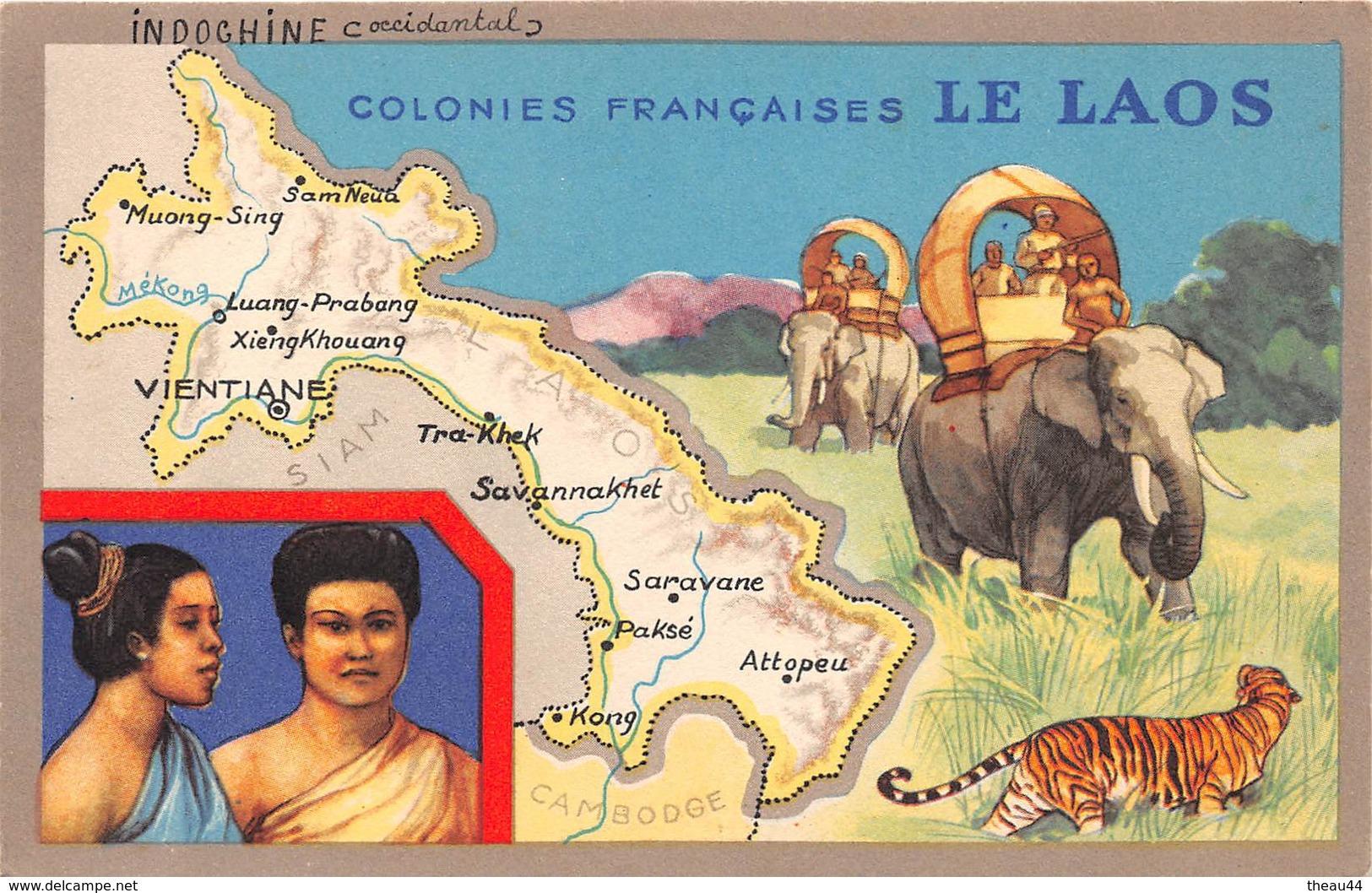 ¤¤  -   LAOS   -  Colonie Française   -   Illustrateur  -  ¤¤ - Laos
