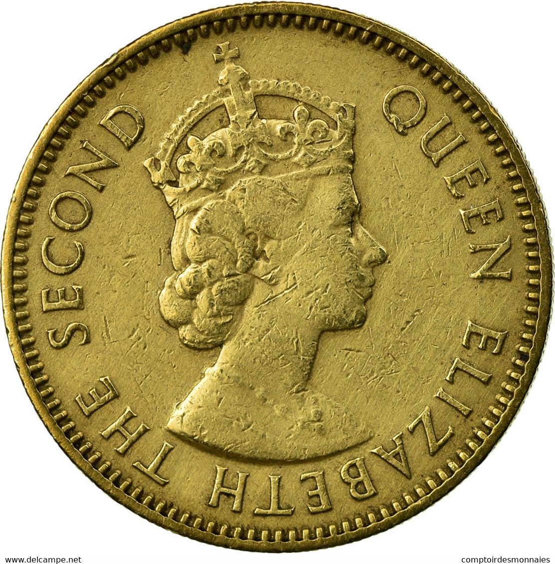 Monnaie, Hong Kong, Elizabeth II, 10 Cents, 1959, Heaton, TTB+, Nickel-brass - Hong Kong