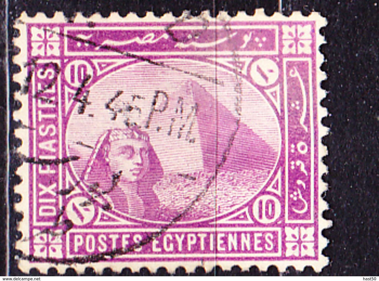 Ägypten - Sphinx Vor Cheopspyramide (Mi.Nr.: 24) 1879 - Gest Used Obl - 1915-1921 Protectorat Britannique