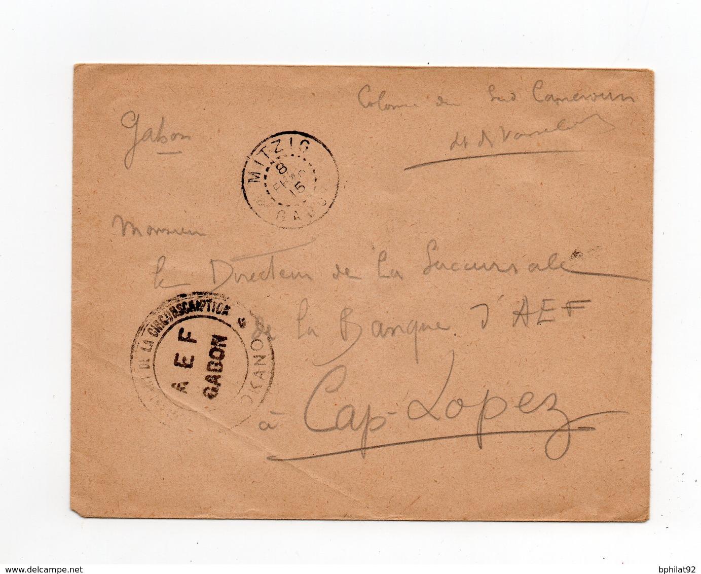 !!! PRIX FIXE : CAMEROUN, LETTRE EN FRANCH DE LA COLONNE SUD DU CORPS EXPEDITIONNAIRE OBLITEREE A MITZIG - Cameroun (1915-1959)