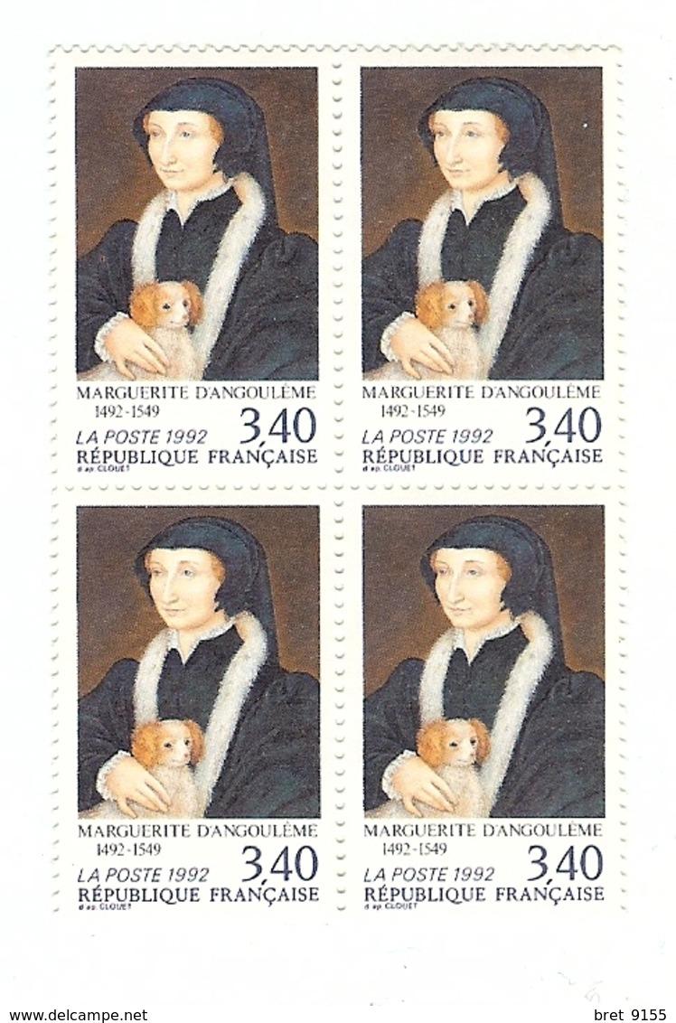 BLOC DE 4 NEUF 3.40 MARGUERITE D ANGOULEME 1492 1549 - Mint/Hinged
