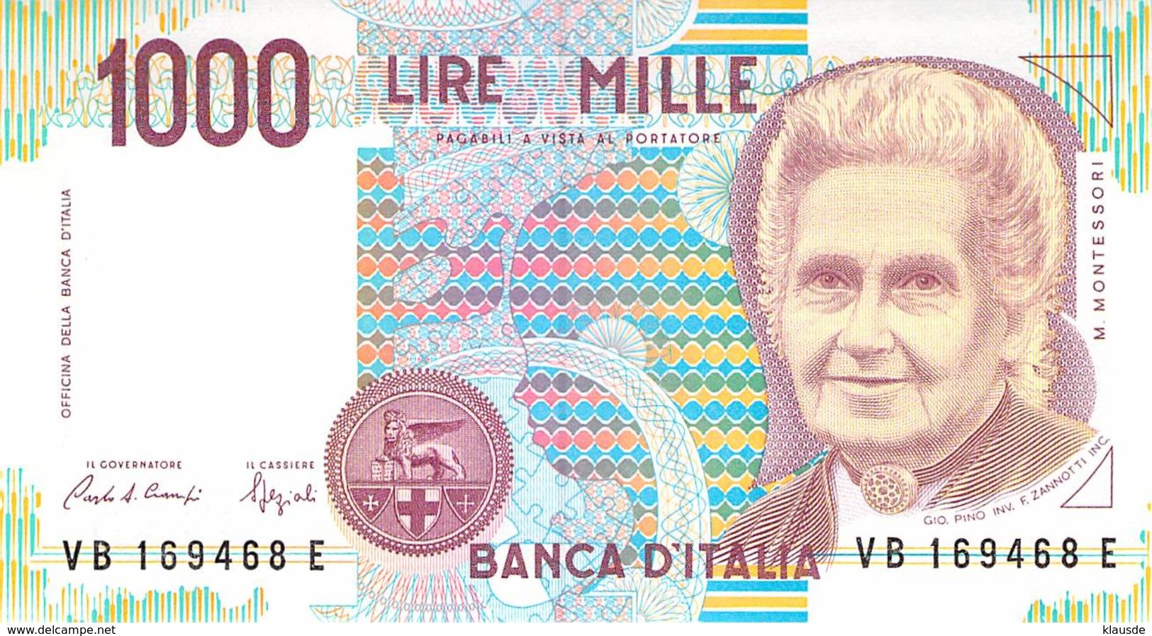 1000 Lire Italien 1990 - 1000 Lire