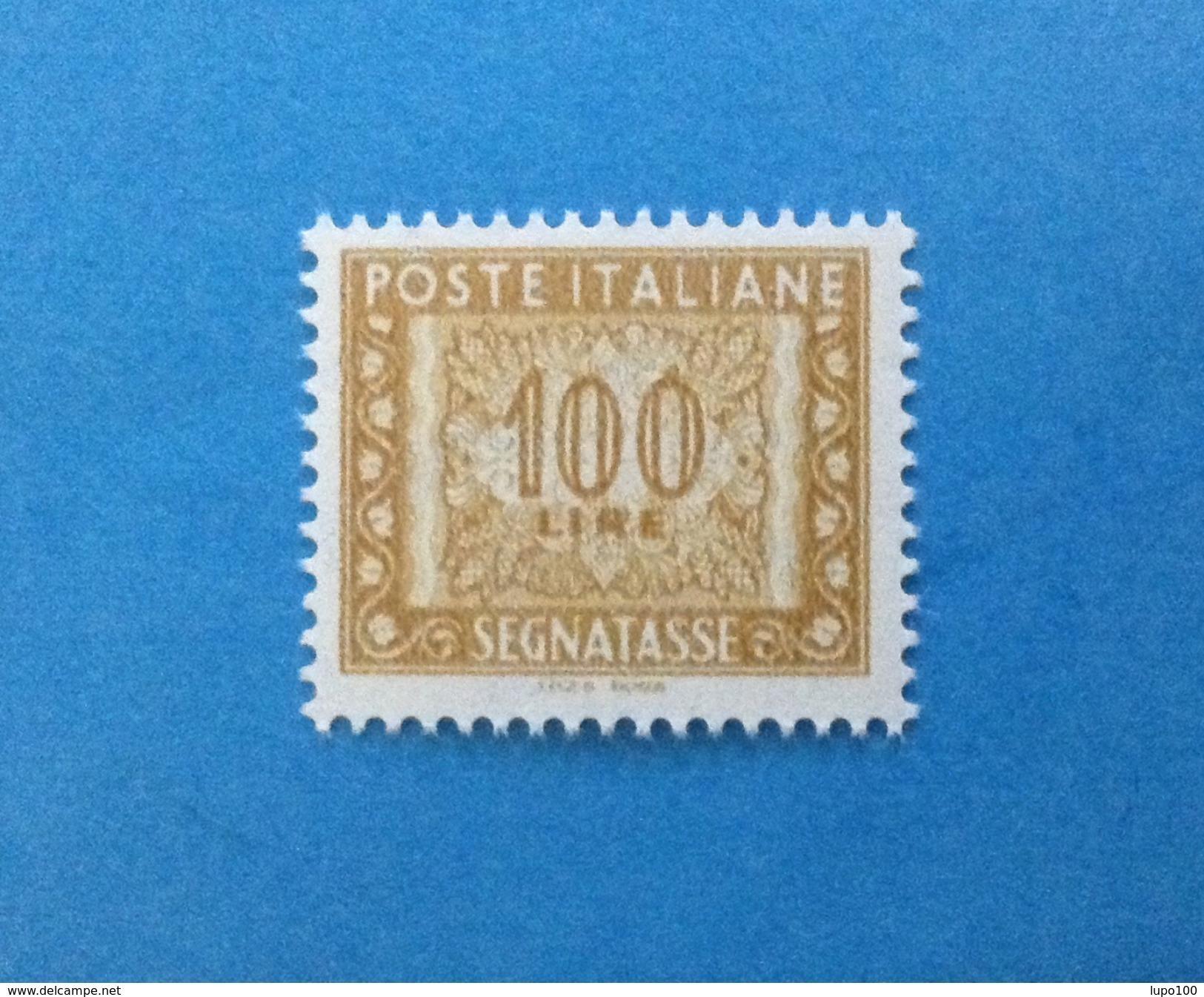 2000 ITALIA FRANCOBOLLO NUOVO STAMP NEW MNH** - SEGNATASSE DA 100 LIRE DICITURA MARGINE I.P.Z.S. ROMA - - 6. 1946-.. Repubblica