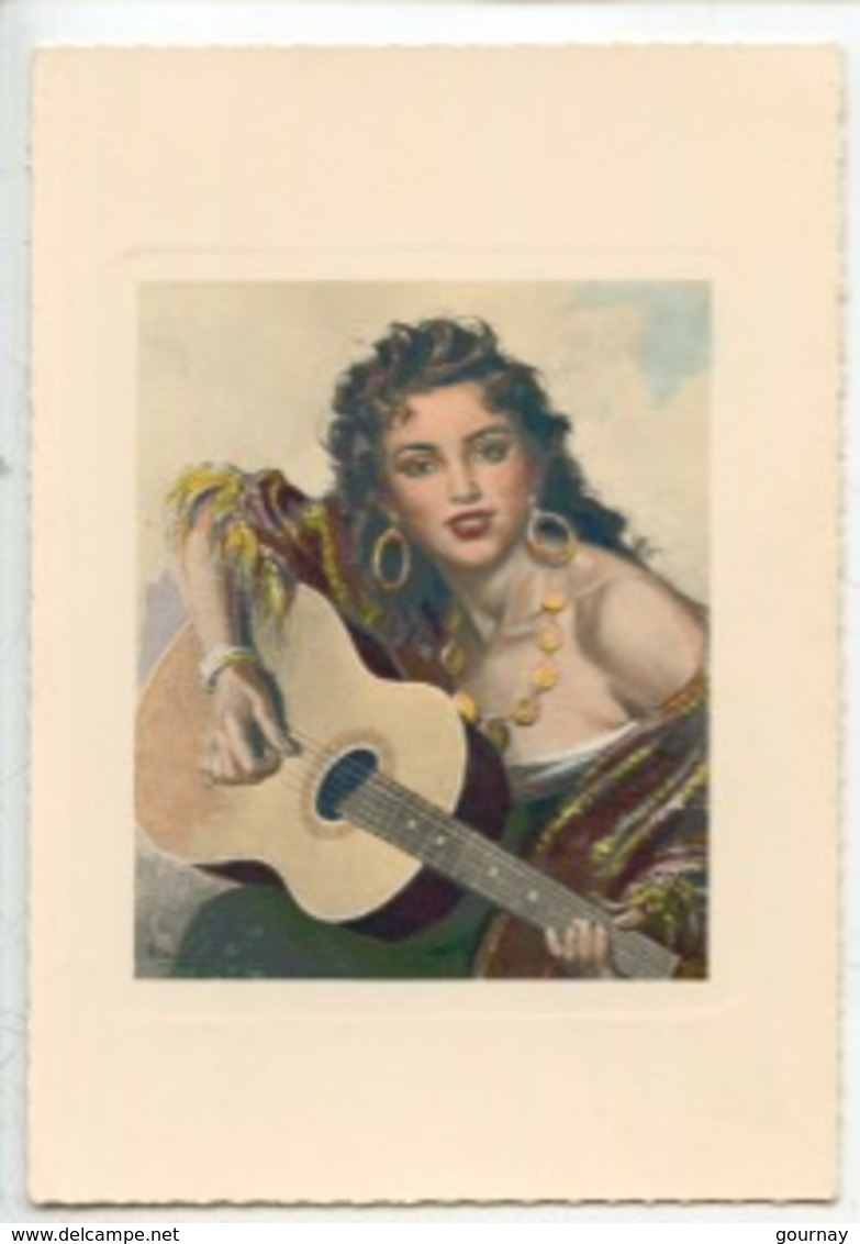 André David - Gitane (guitare) Tapisserie D'Aubusson (coll Fougerol) Cp Vierge N°27 - Arts