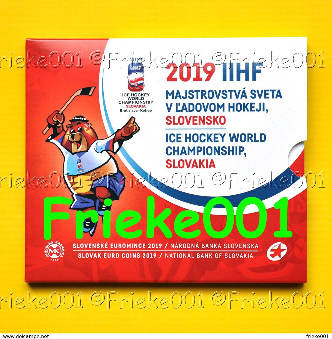 Slovakije - Slovaquie - Officiële Set 2019 BU.(WK Ice Hockey) - Slovaquie