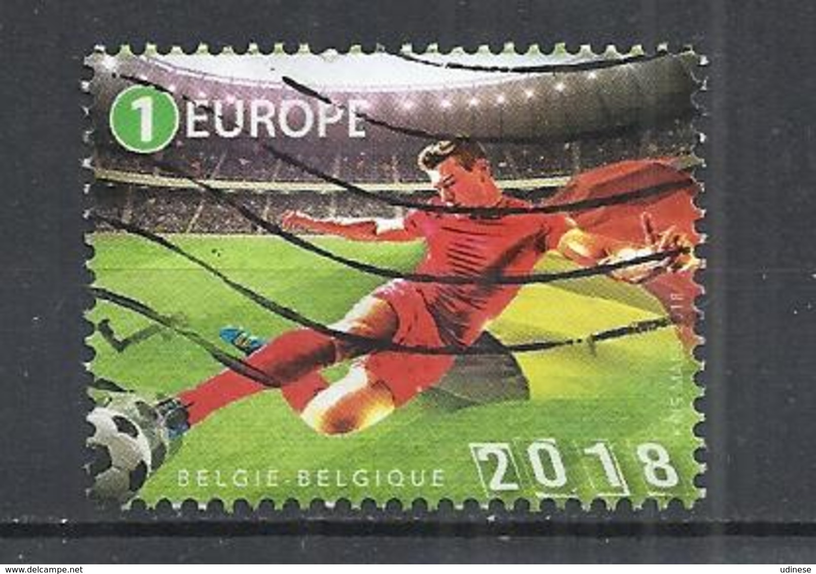 BELGIUM 2018 - WORLD CUP FOOTBALL - USED OBLITERE GESTEMPELT USADO - 2018 – Russie
