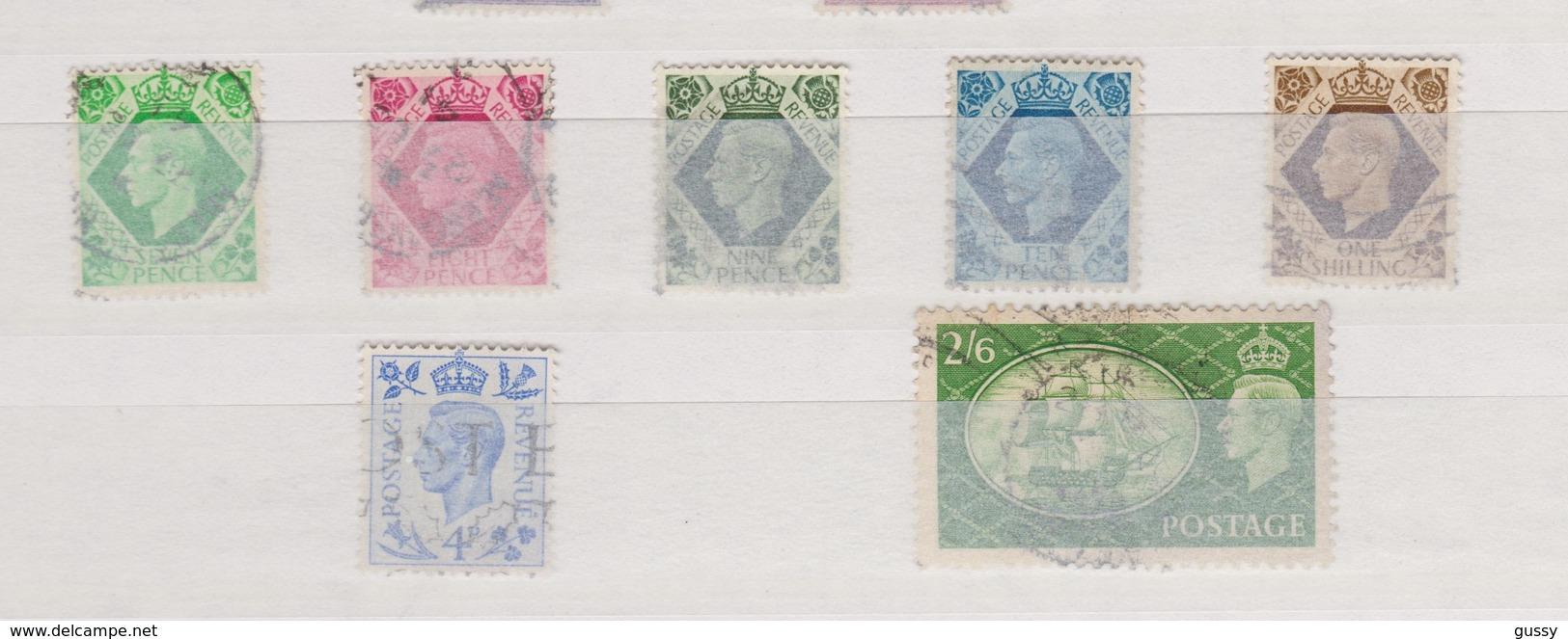 GRANDE BRETAGNE 1837-52:  Roi George VI, Petit Lot De Timbres Oblitérés - 1840-1901 (Viktoria)