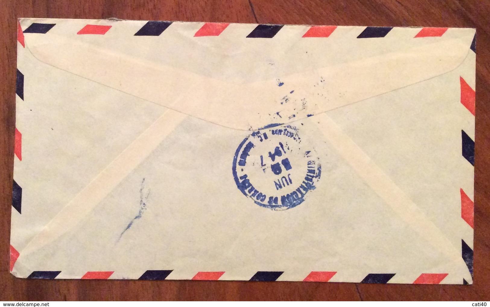 POSTA AEREA PAR AVION  HONDURAS  U.S.A.  FROM  SAN PEDRO SULA    TO  MINNEAPOLIS  THE 31/5/47 - Honduras
