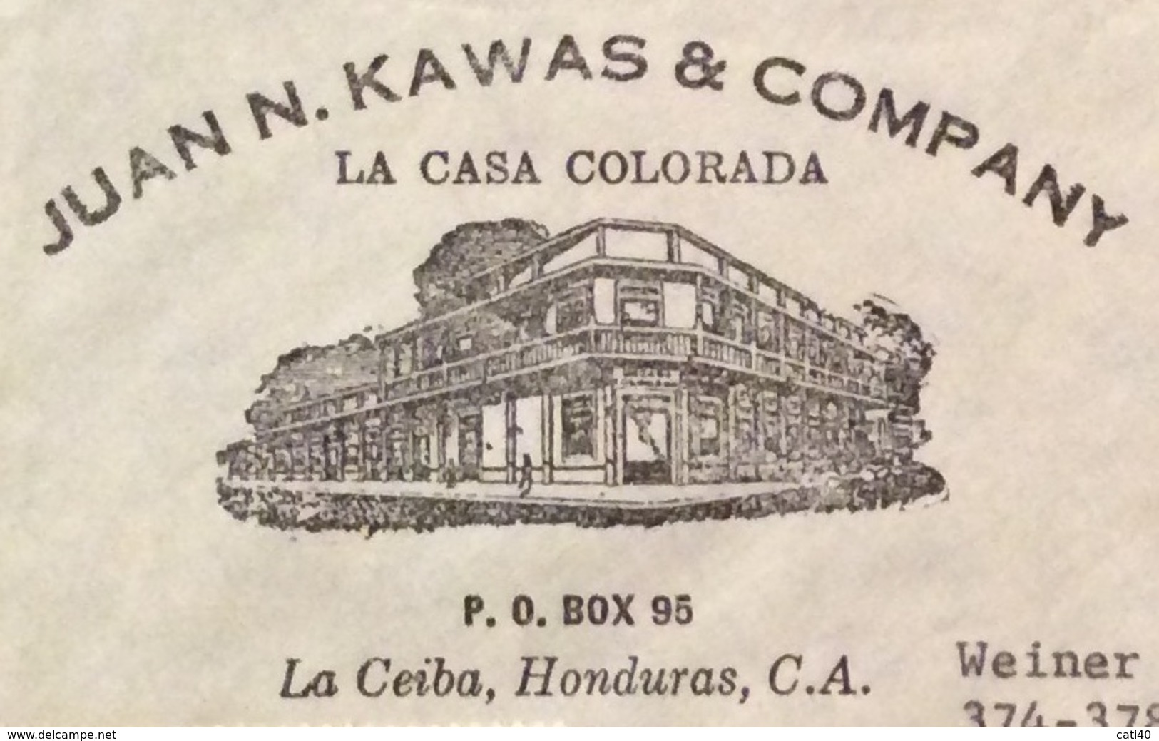 POSTA AEREA  PAR AVION  HONDURAS  U.S.A  FROM  LA CEIBA  TO NEW YORK   THE  22/4/60 - Honduras
