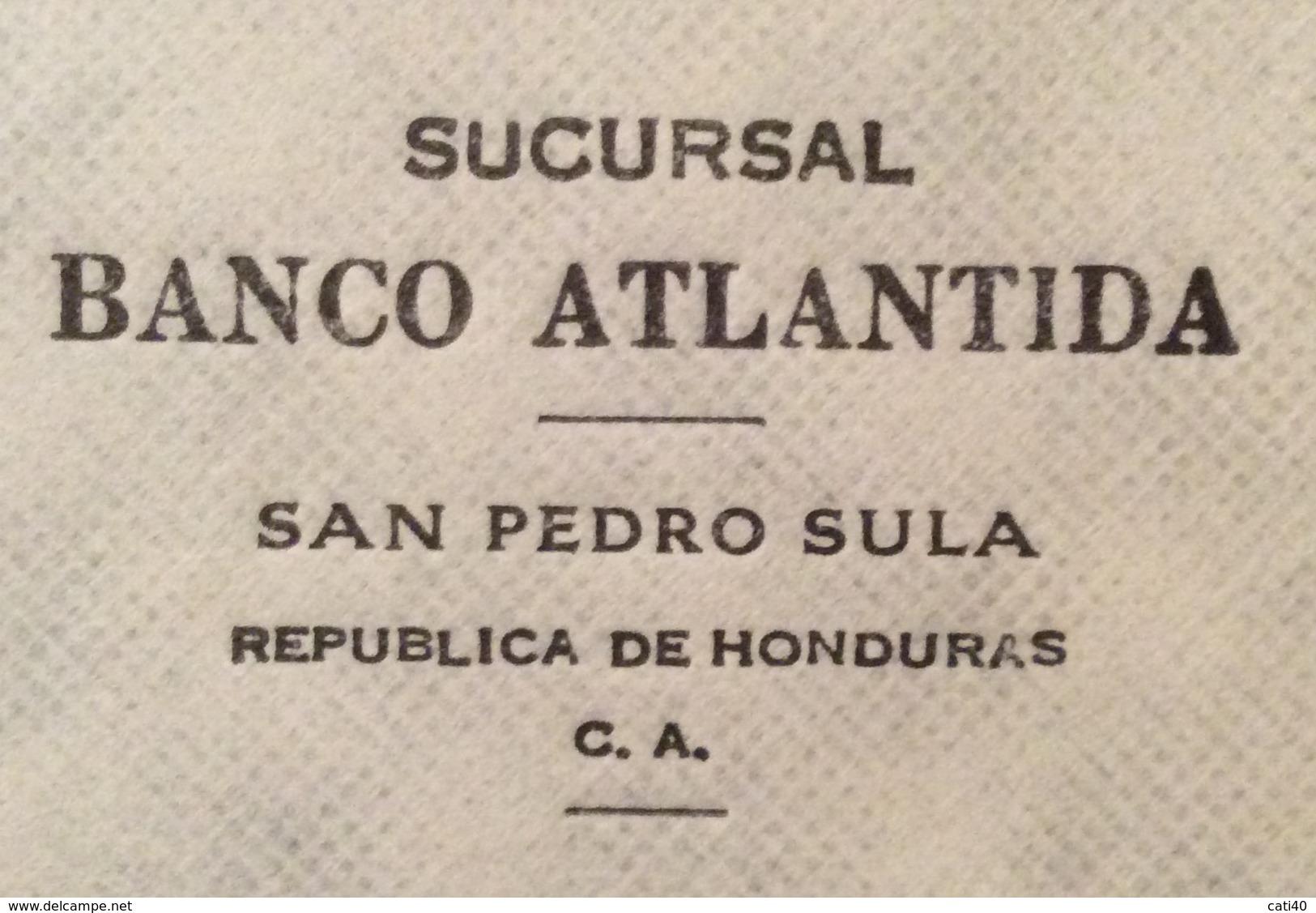 POSTA AEREA  PAR AVION  HONDURAS  U.S.A  FROM SAN PEDRO SULA   TO NEW YORK   THE  20/1/64 - Honduras