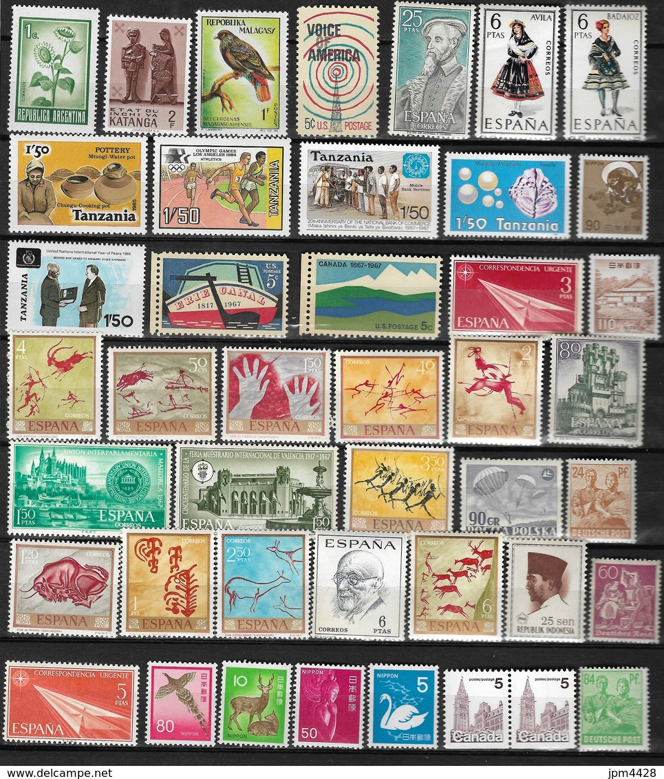 Monde - Etranger - Lot De 65 Timbres Et 2 Blocs - Tous Neufs ** - Timbres