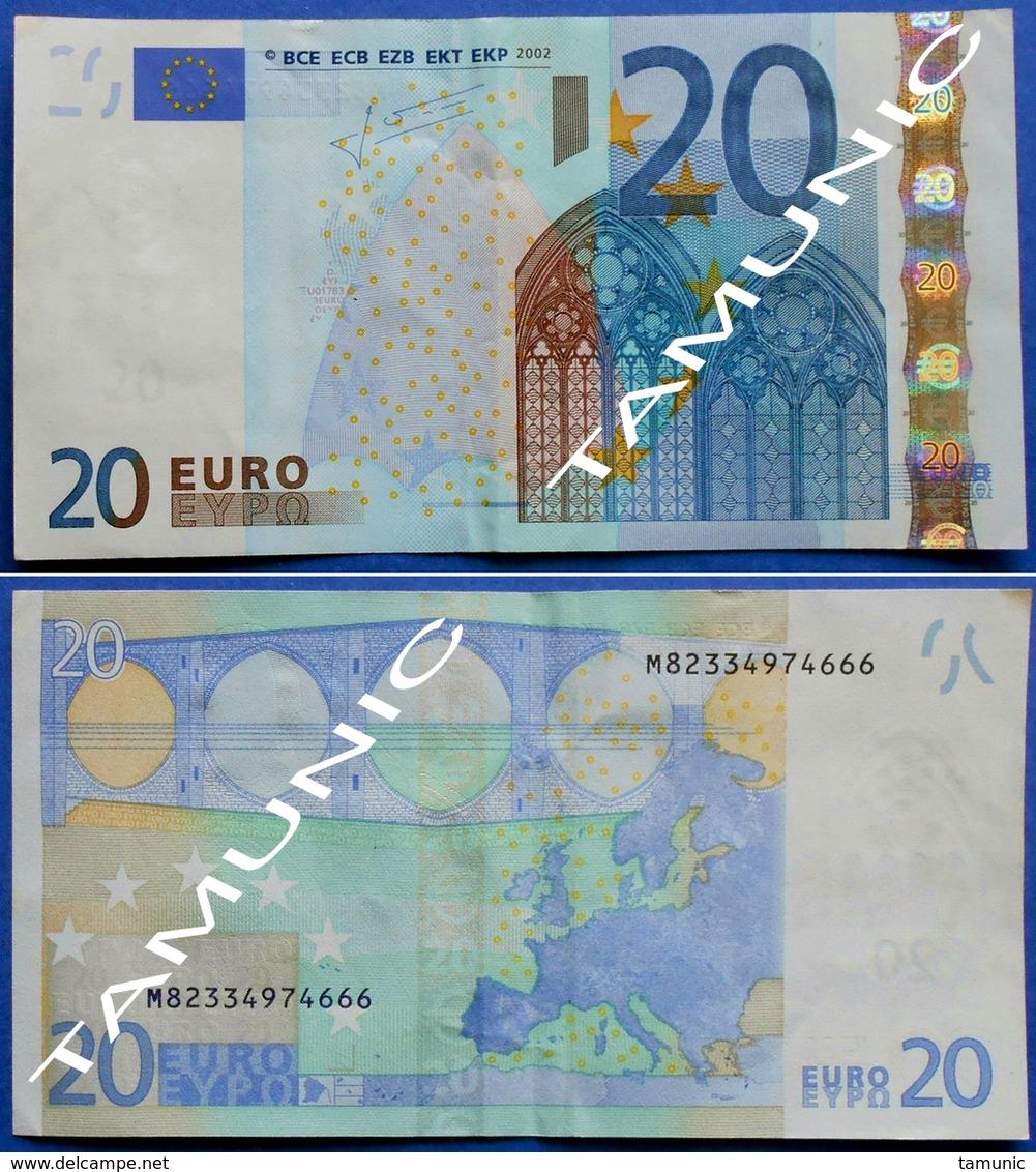 PORTUGAL 20 EURO M 2002 U017 B3 - TRICHET - EURO