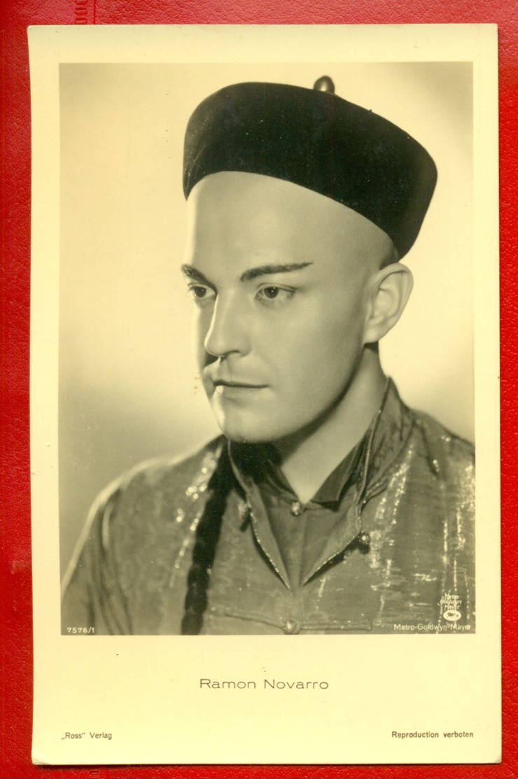 MOVIE STAR RAMON NOVARRO # 7576/1 VINTAGE POSTCARD PUBLISHER GERMANY 1396 - Schauspieler
