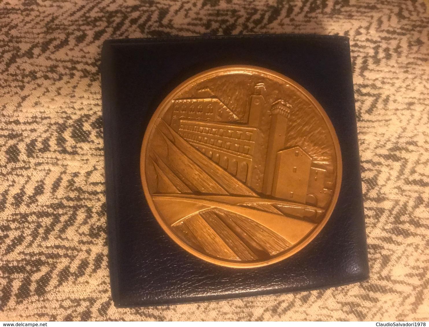 1988 Medaglia Grande Modulo In Bronzo Qsmaltata Regata Storica Di San Ranieri Pisa Amalfi Genova Venezia - Bronzes