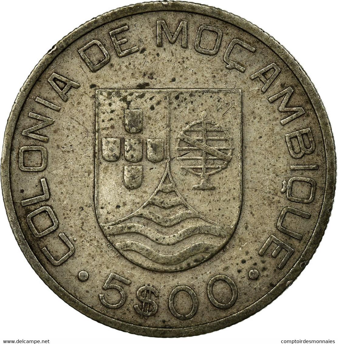 Monnaie, Mozambique, 5 Escudos, 1935, TTB, Argent, KM:62 - Mozambique