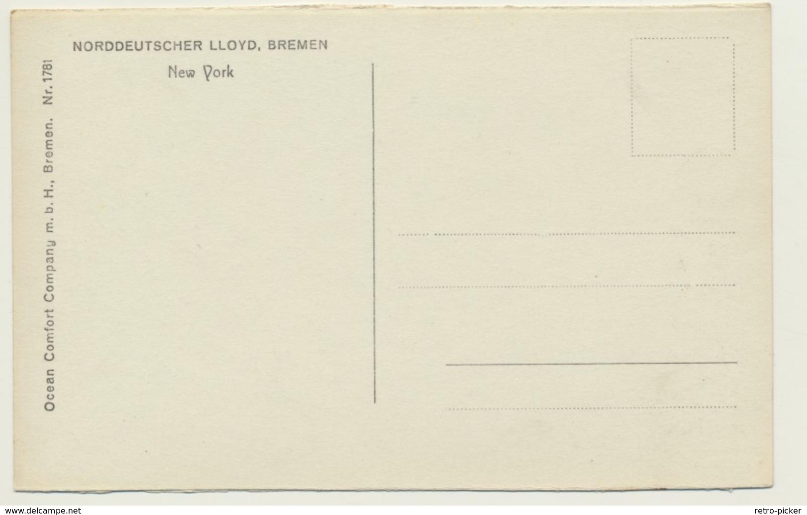 AK  New York LLoyd Bremen - New York City