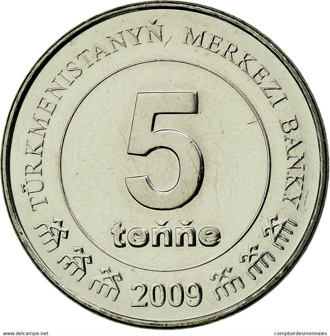 Monnaie, Turkmanistan, 5 Tenge, 2009, SPL, Nickel Plated Steel, KM:97 - Turkmenistán