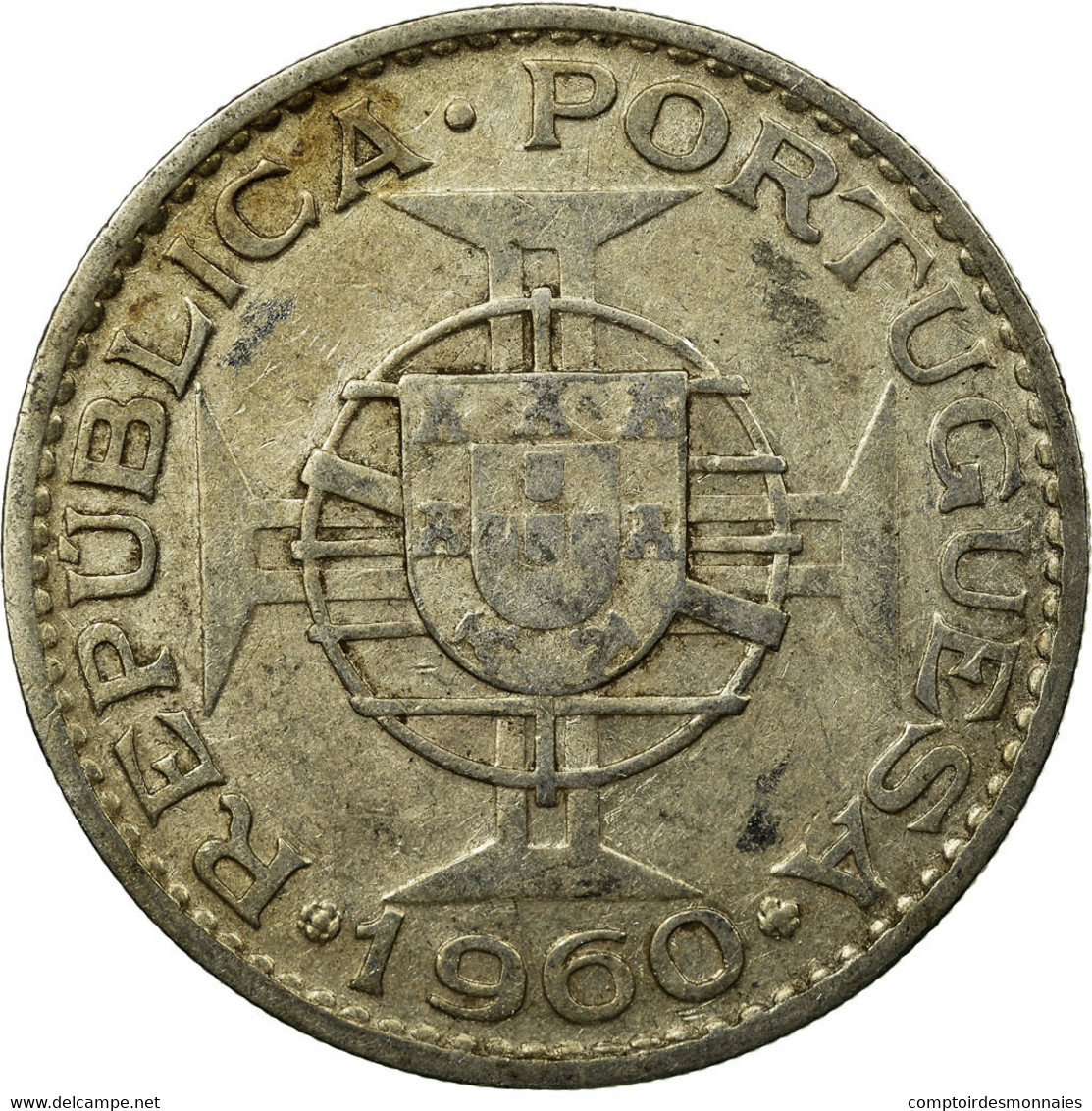 Monnaie, Mozambique, 20 Escudos, 1960, TB+, Argent, KM:80 - Mozambique