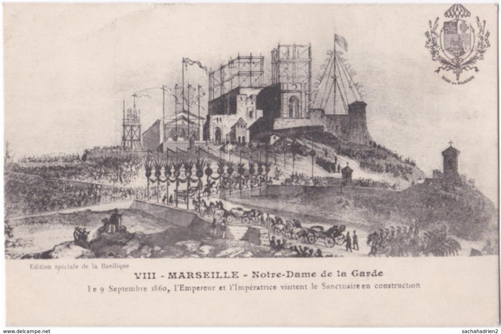 13. MARSEILLE. Notre-Dame De La Garde. Le 9 Septembre 1860... - Notre-Dame De La Garde, Lift