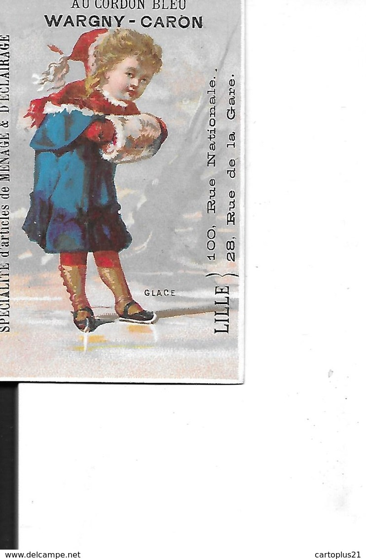 CHROMO    5 CHROMOS GLACE. PLUIE. GRELE. NEIGE. SOLEIL  JEUNE FILLE GROS PLAN SCENES  CORDON BLEU LILLE DEPT 59 - Trade Cards