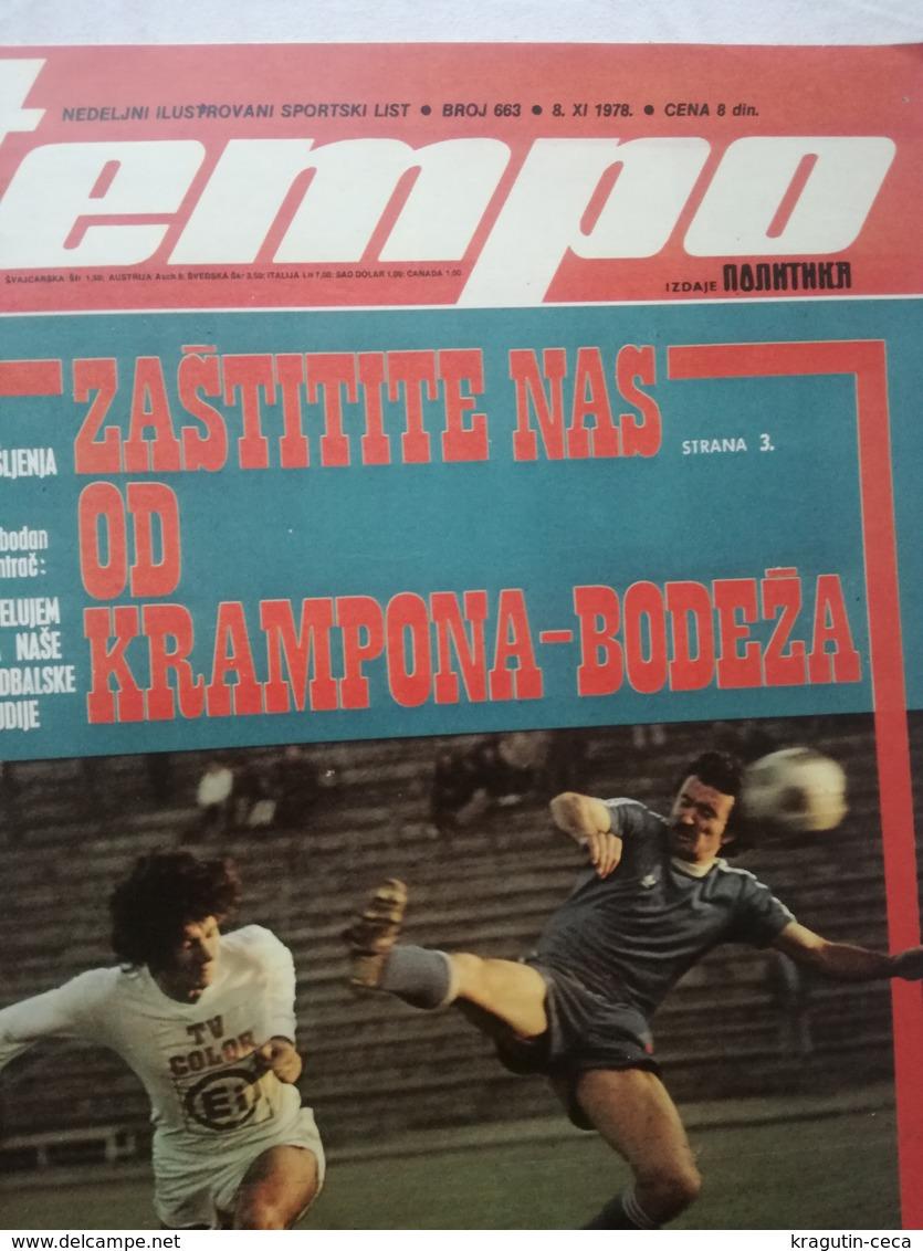 1978 TEMPO YUGOSLAVIA SERBIA SPORT FOOTBALL MAGAZINE NEWSPAPERS BOXING Mate Parlov Vs Marvin JohnsonTITO BOROTA  PETAR - Otros