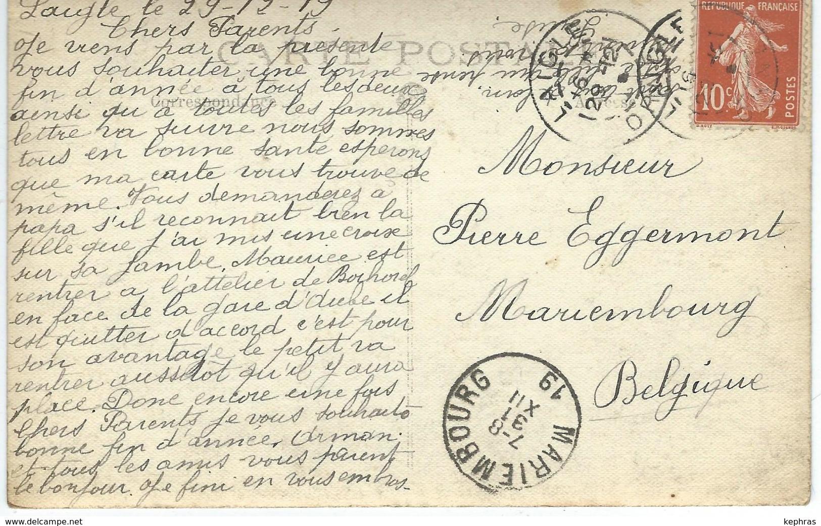 LAIGLE ( ORNE ) : RARE CARTE PHOTO - Commémoration De La Victoire 1918 - Cachet De La Poste 1919 - L'Aigle