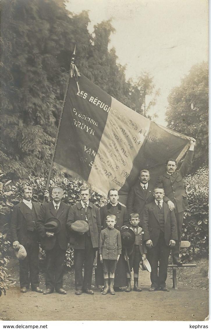 LAIGLE ( ORNE ) : RARE CARTE PHOTO - Commémoration Par Les Réfugiés Belges - L'Aigle