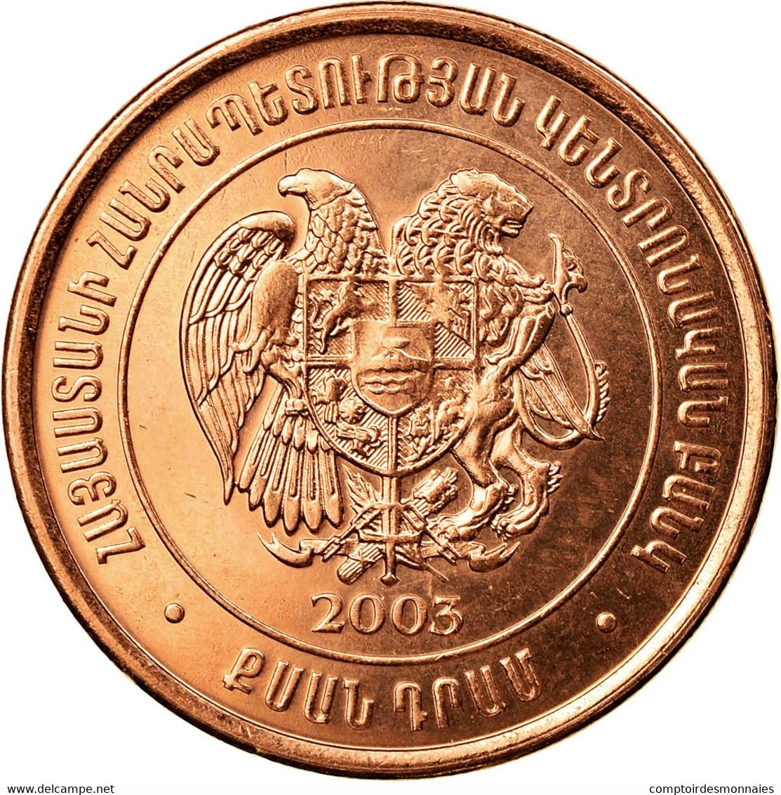 Monnaie, Armenia, 20 Dram, 2003, SUP, Copper Plated Steel, KM:93 - Armenia