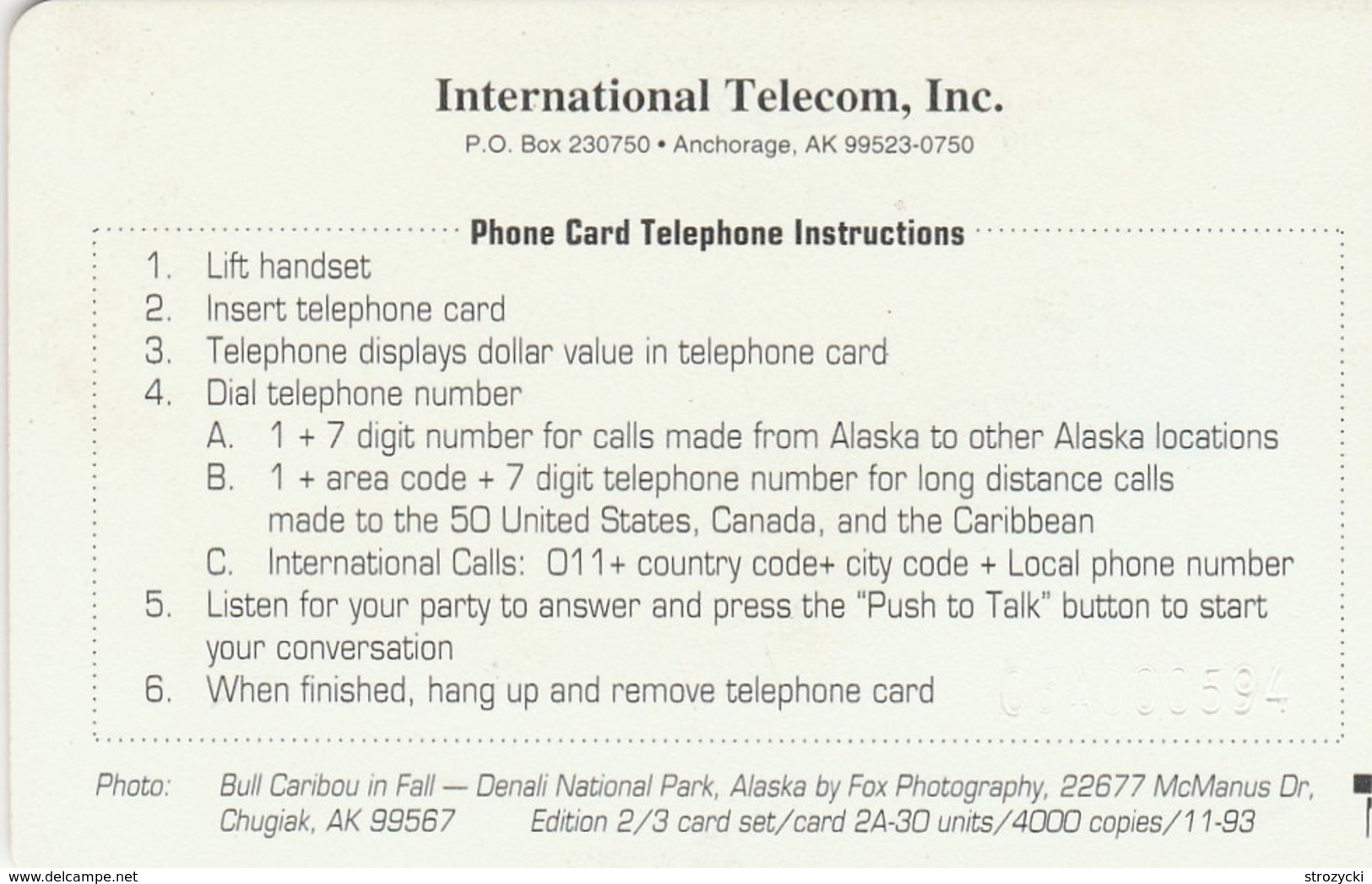 Alaska - Bull Caribou In Fall - Denali National Park - Altri – America