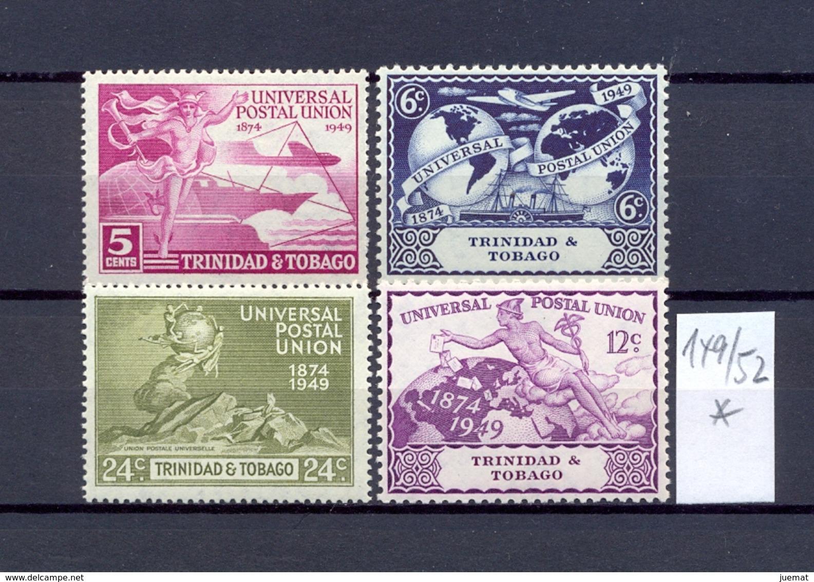 TRINIDAD & TOBAGO - 149/52  UPU 1949  Kmpl.m.Falz - Trinidad & Tobago (...-1961)