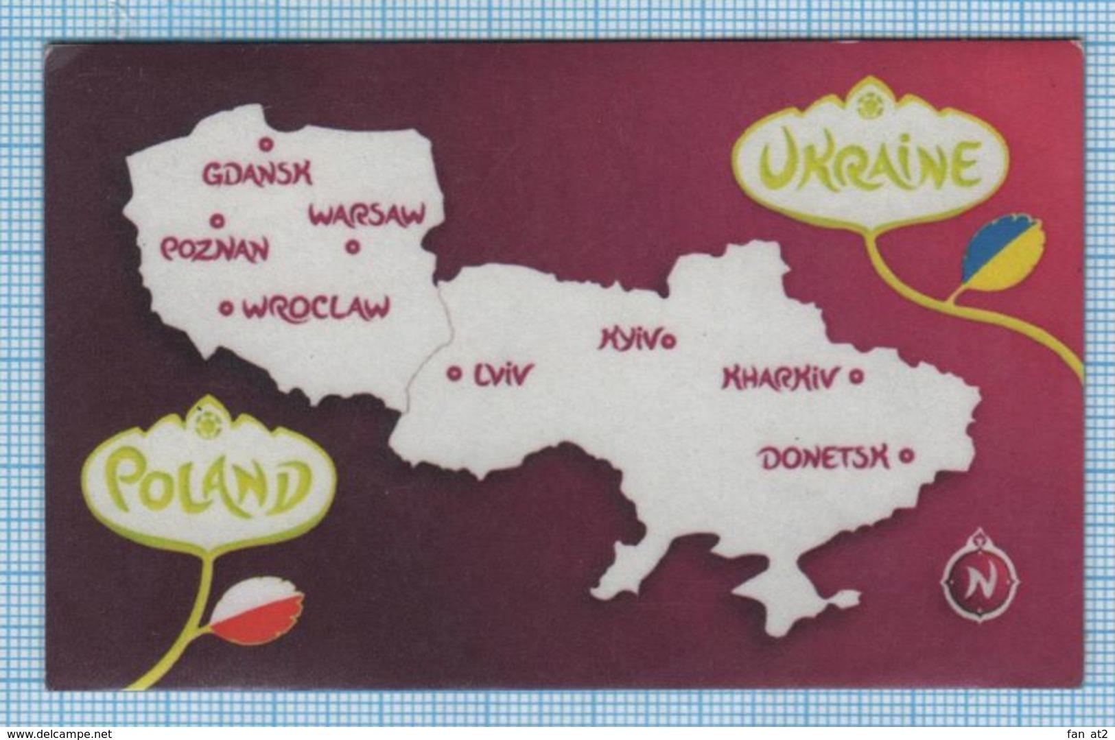 UKRAINE / Flexible Magnet / Football UEFA Europe Championship. EURO 2012 Poland. Polska. Sports Stadiums. - Sports