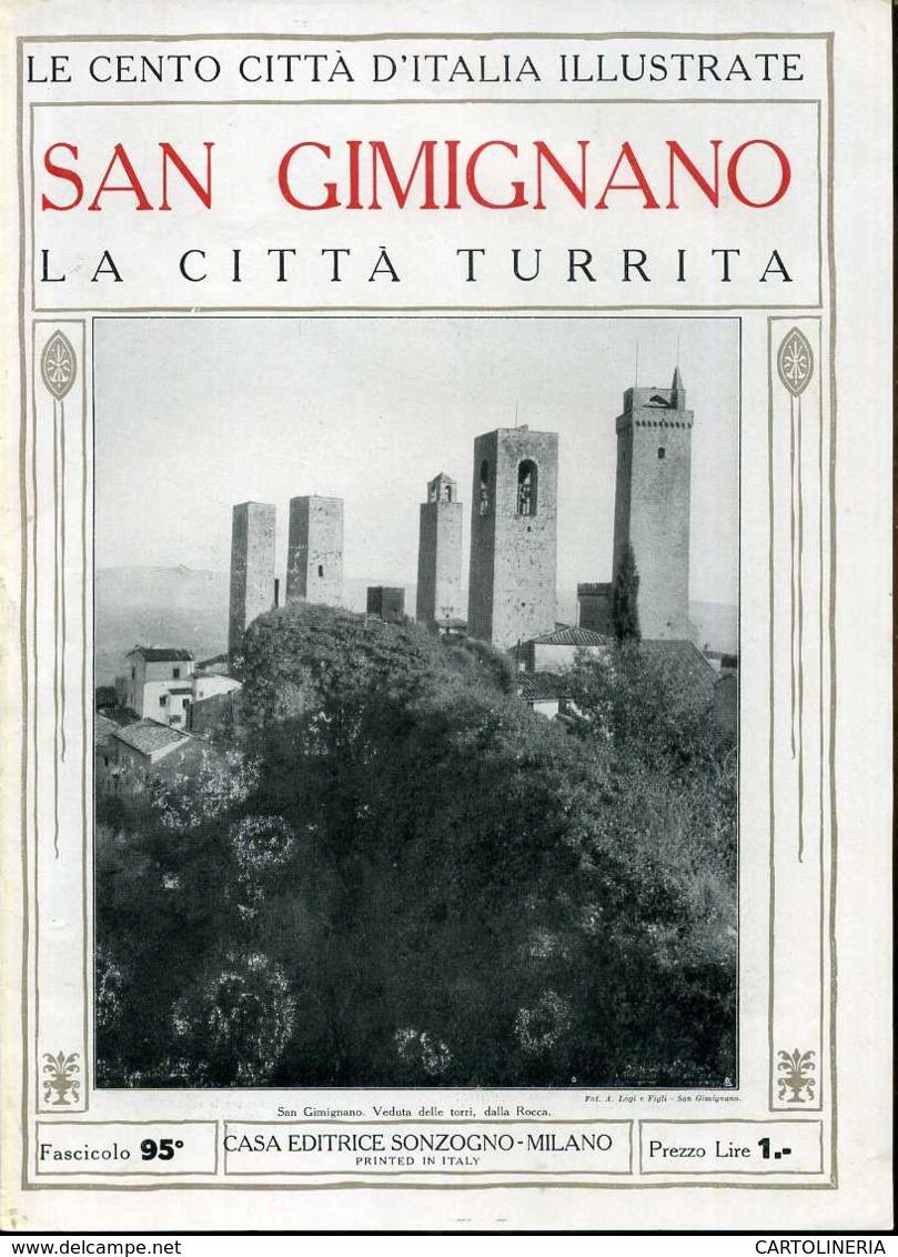 1920 Cento Città D' Italia San Gimignano-La Città Turrita - Ante 1900