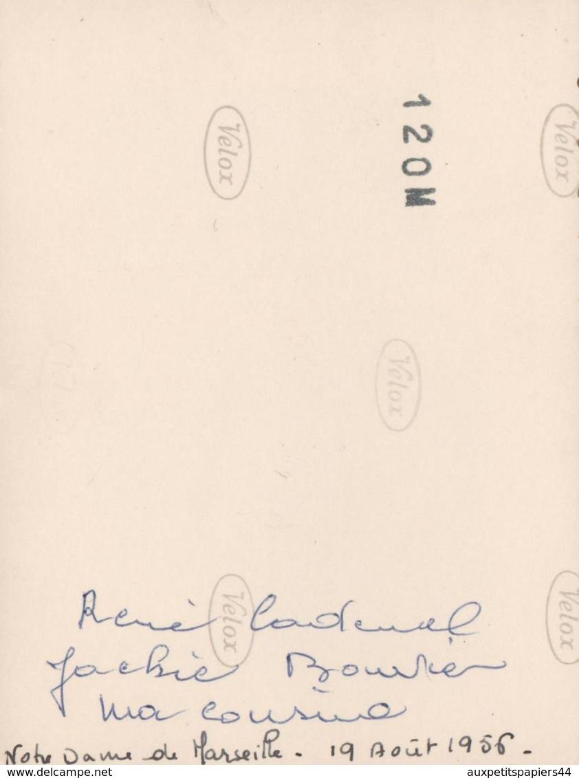 Photo Originale René Cadeuel (Caderrel) & Jackie Bouvier Au Sommet De Notre Dame De Marseille En Août 1956 - Personnes Identifiées