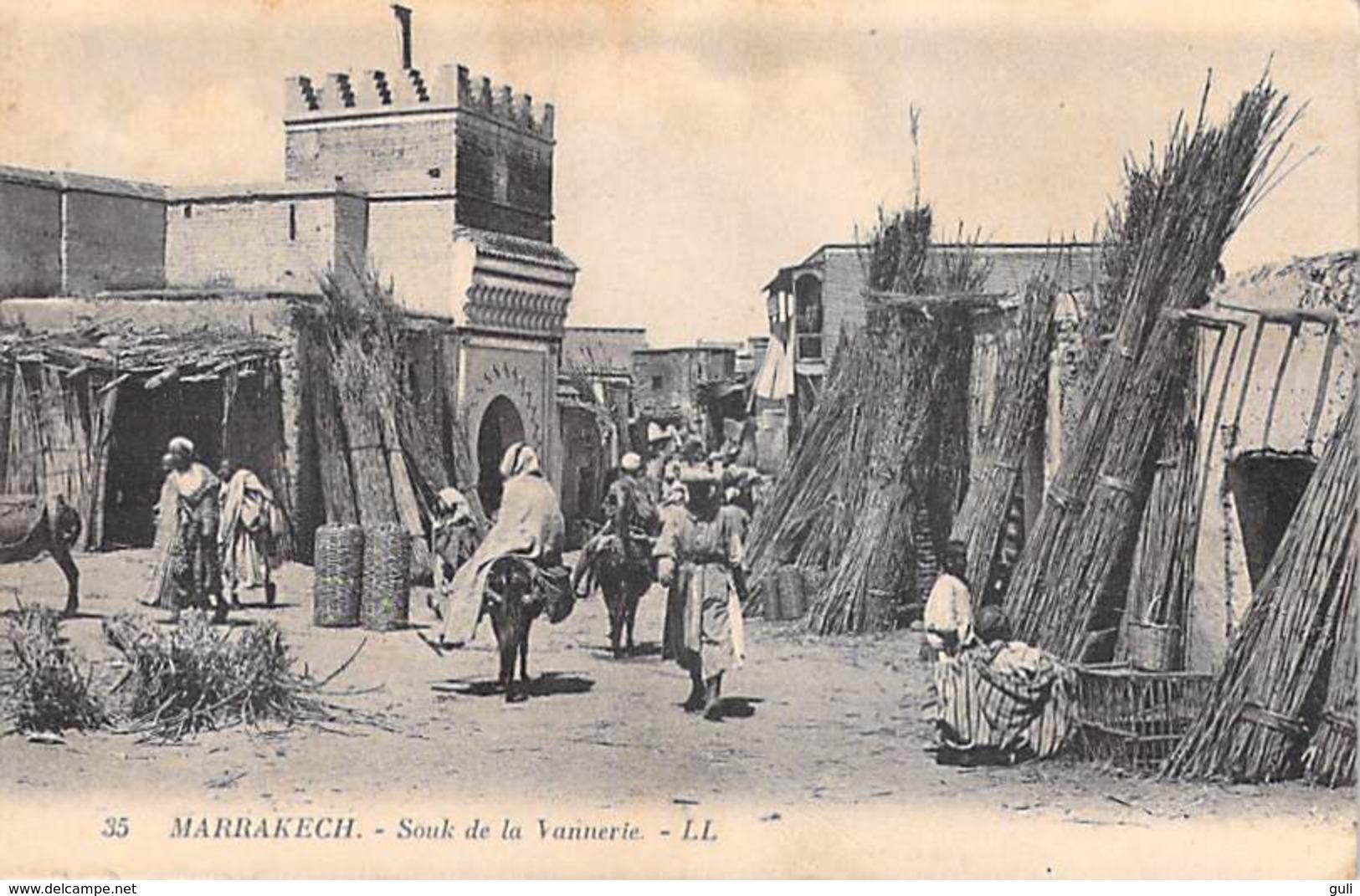 Maroc- MARRAKECH  Souk De La Vannerie  (Editions : LL N°35) PRIX FIXE - Marrakech