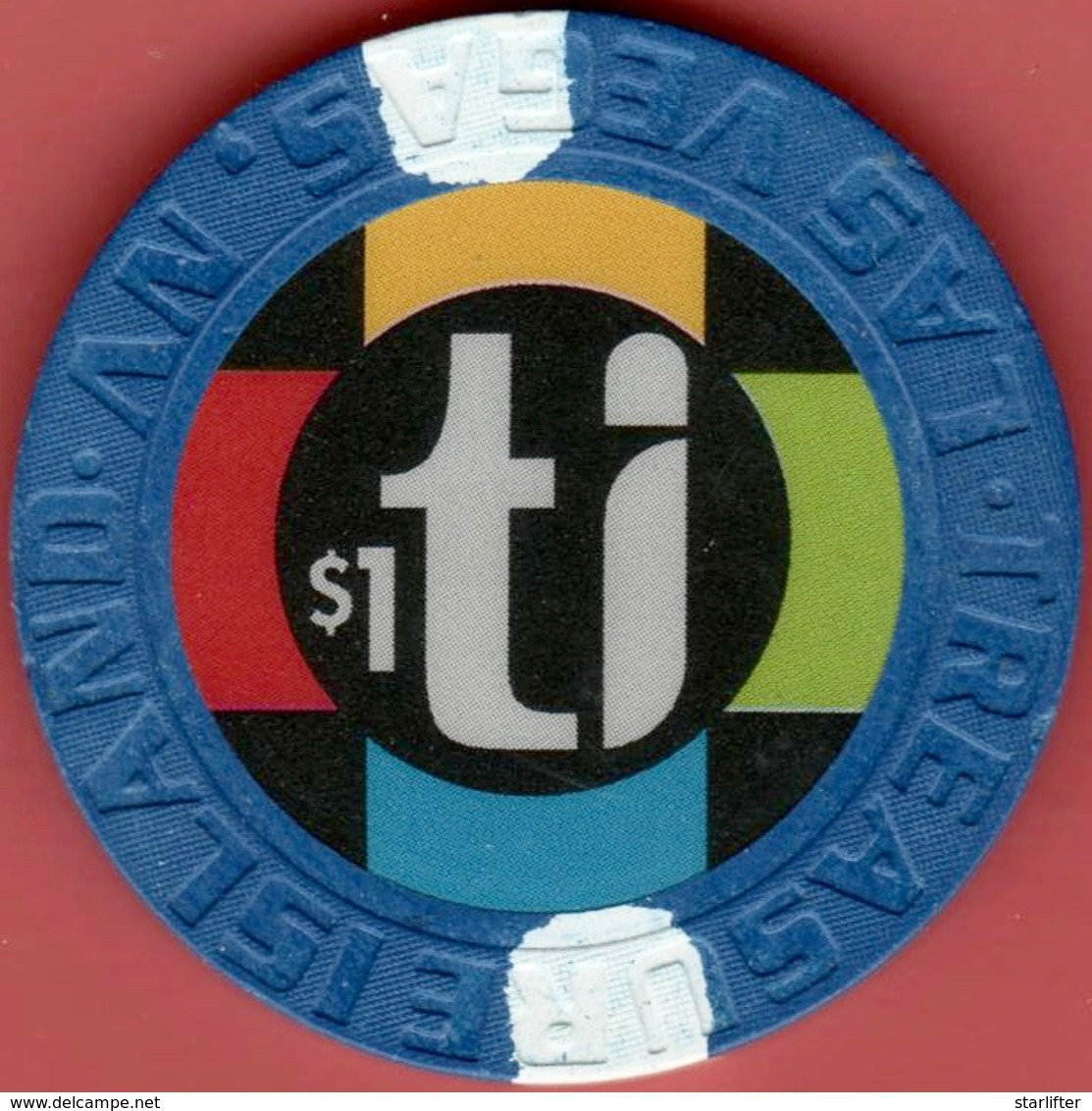 $1 Casino Chip. Treasure Island, Las Vegas, NV. I07. - Casino