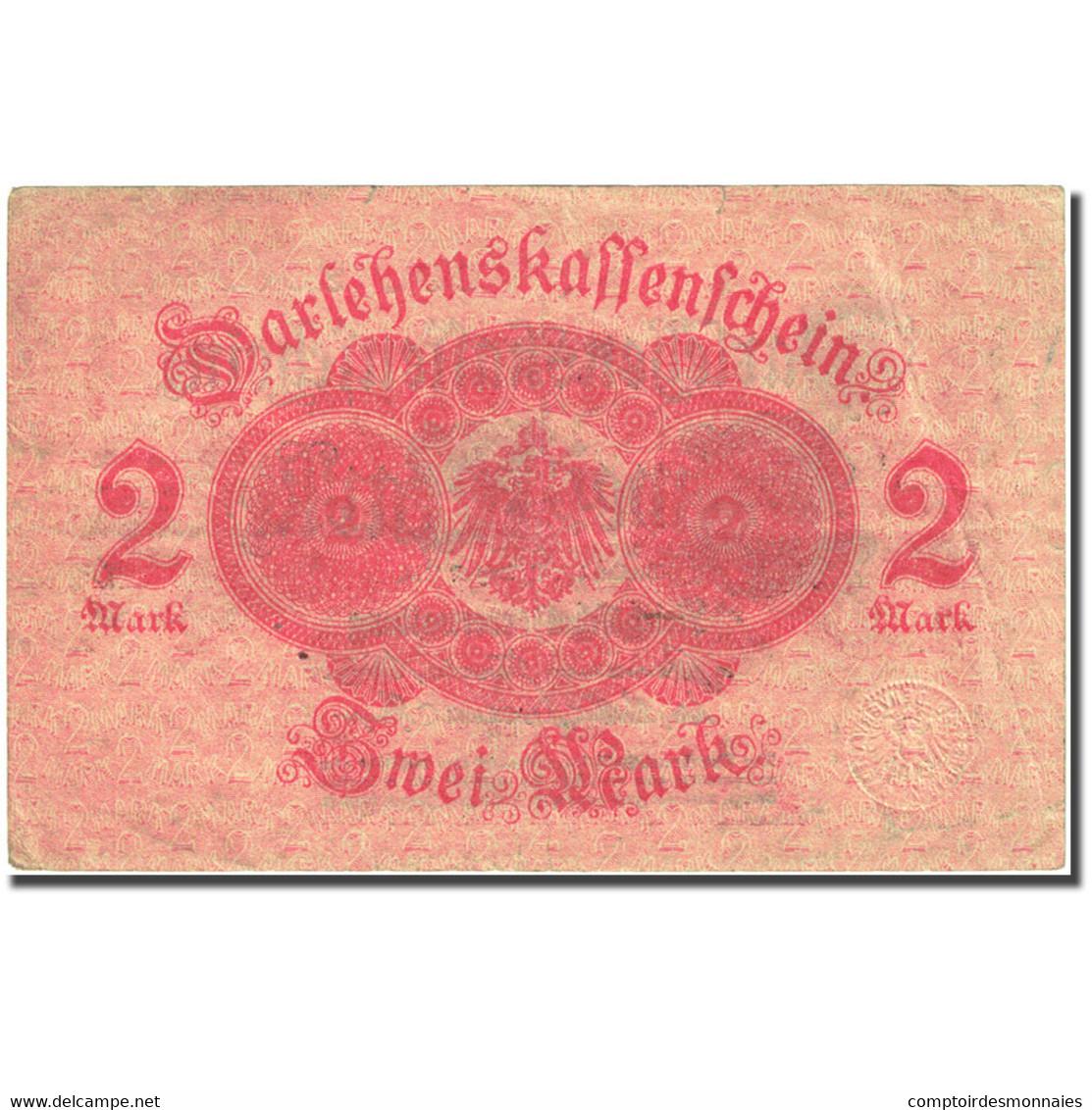 Billet, Allemagne, 2 Mark, 1914, 1914-08-12, KM:53, TTB - [ 2] 1871-1918 : Impero Tedesco