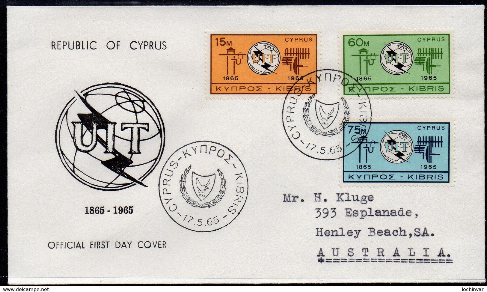 CYPRUS, 1965 ITU FDC - Covers & Documents