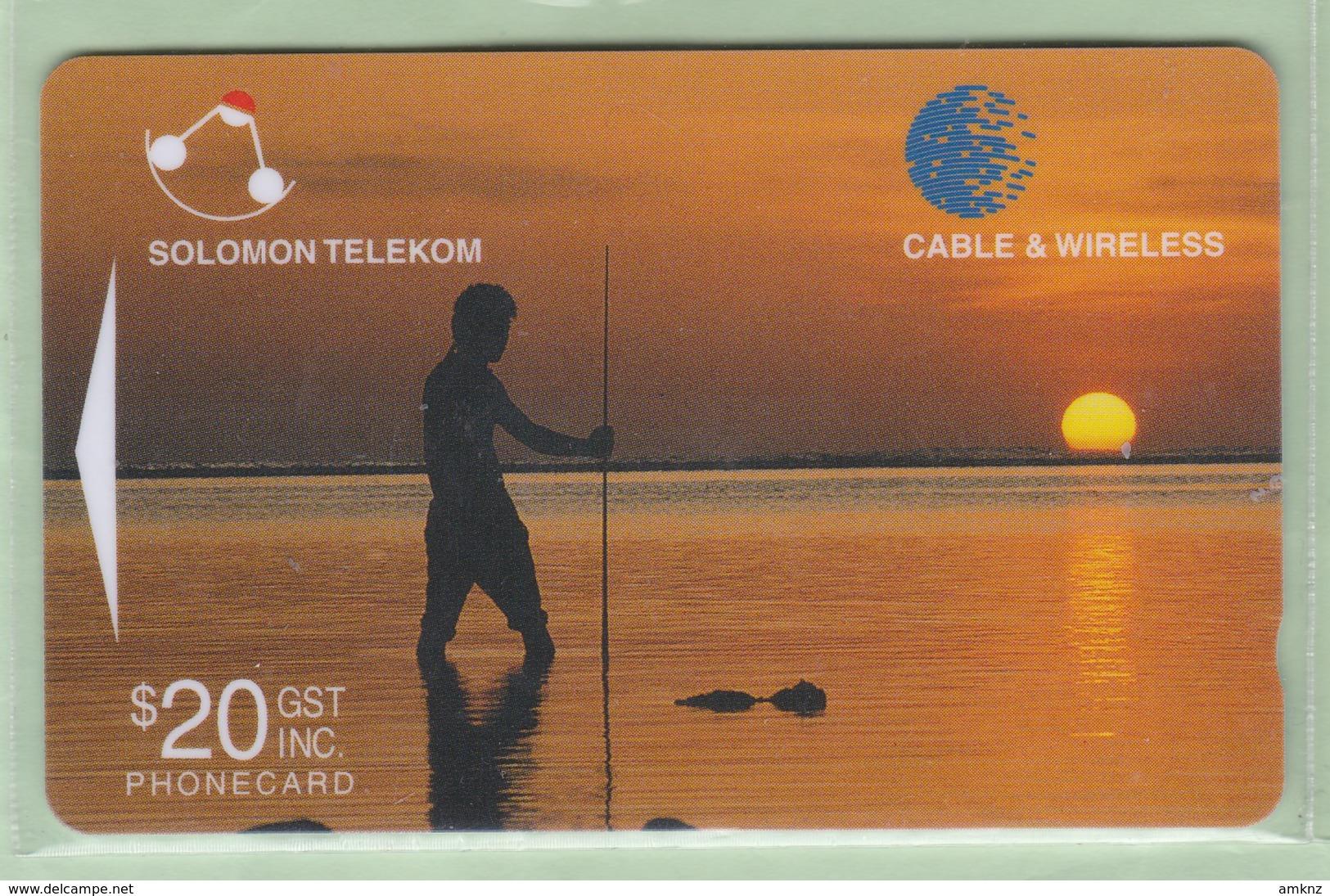 Solomon Island - 1998 Sixth Issue - $20 Sunset - SOL-22 - FU - Isole Salomon