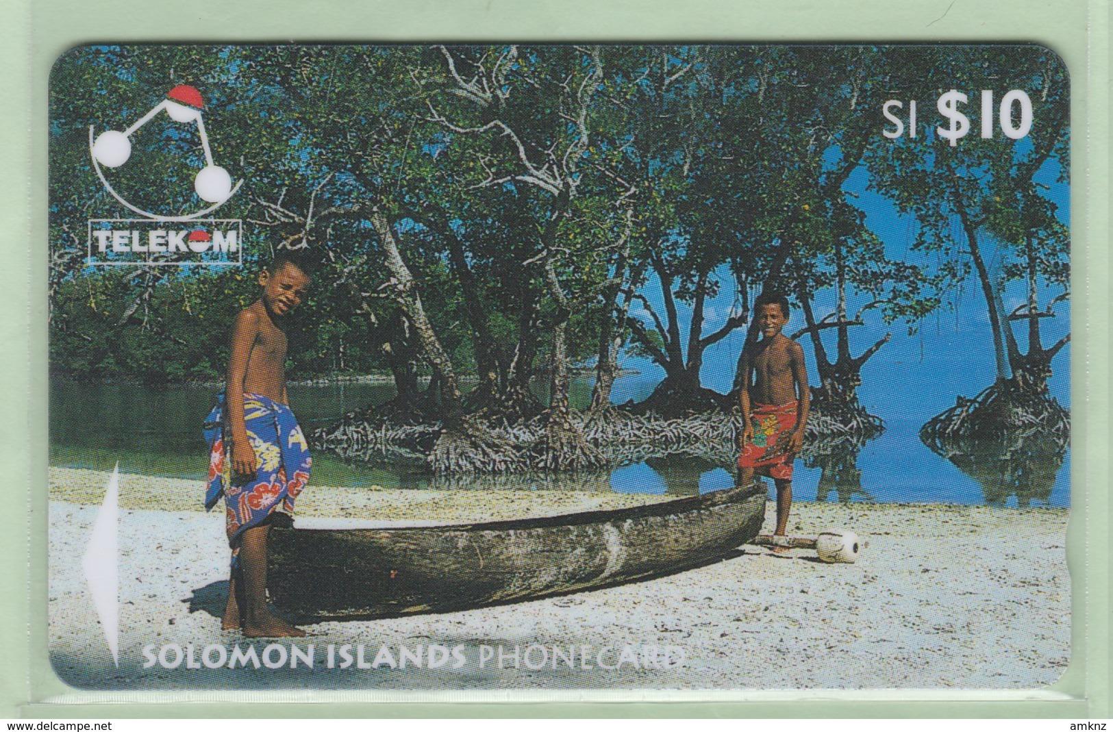 Solomon Island - 1996 Canoes - $10 Sikaiana - SOL-13 - VFU - Isole Salomon