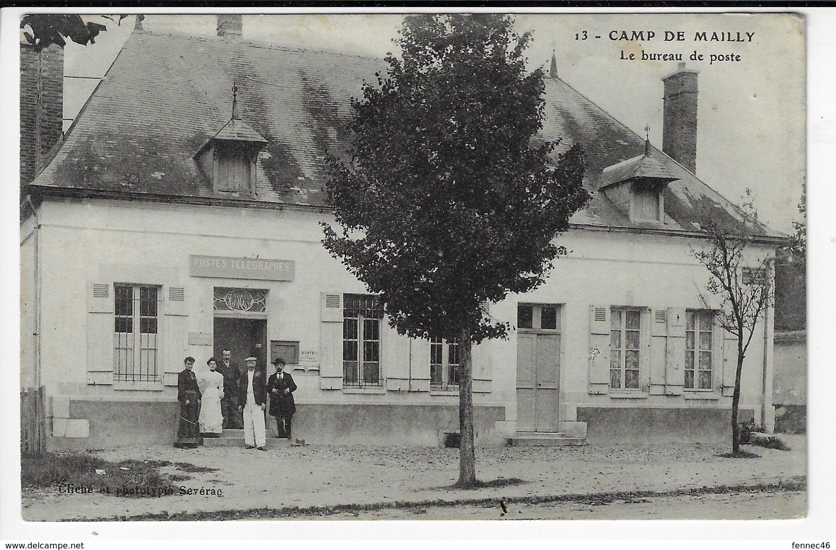 Camp De MAILLY - Le Bureau De Poste - Animée (V35) - Casernes