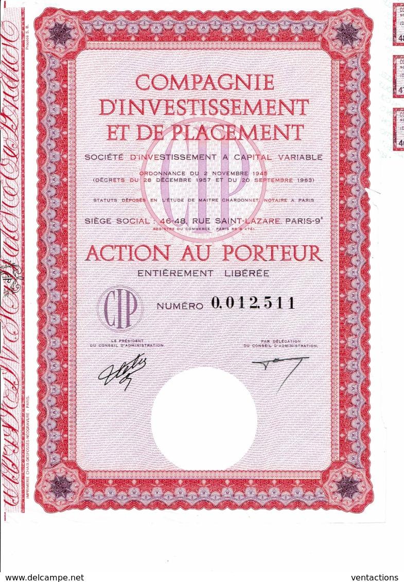 75-INVESTISSEMENT ET DE PLACEMENT. SICAV. Action - Other