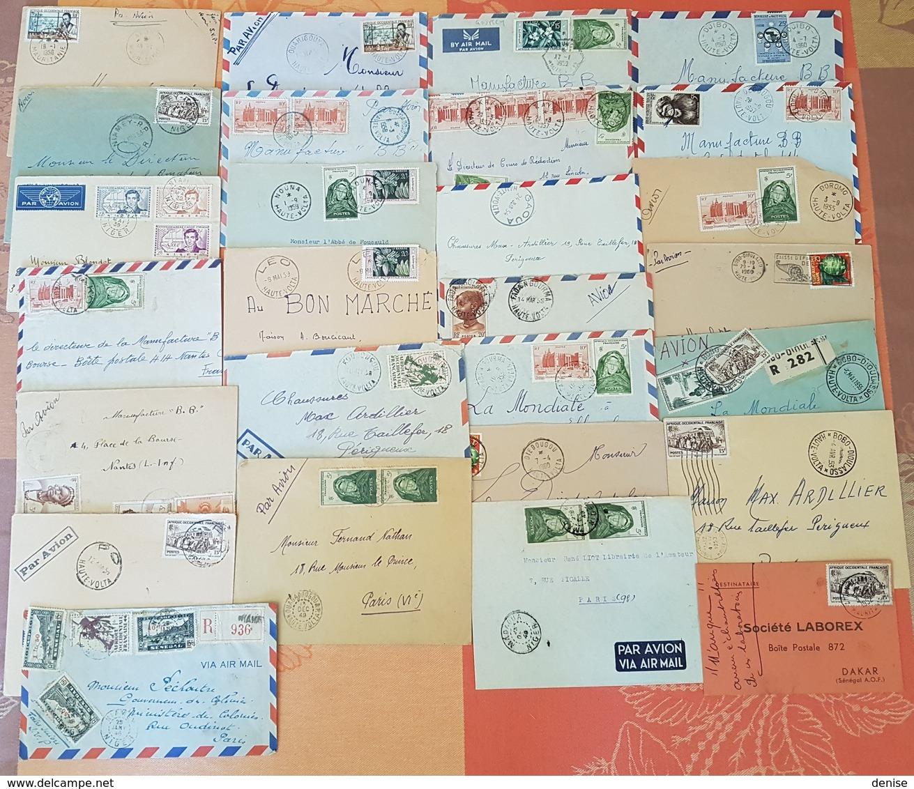 Lot Marcophile D'AOF -  MISE A PRIX 1 EURO  ; Haute Volta , Niger , Mauritanie - Beaux  Cachets Et Affranchissements - A.O.F. (1934-1959)