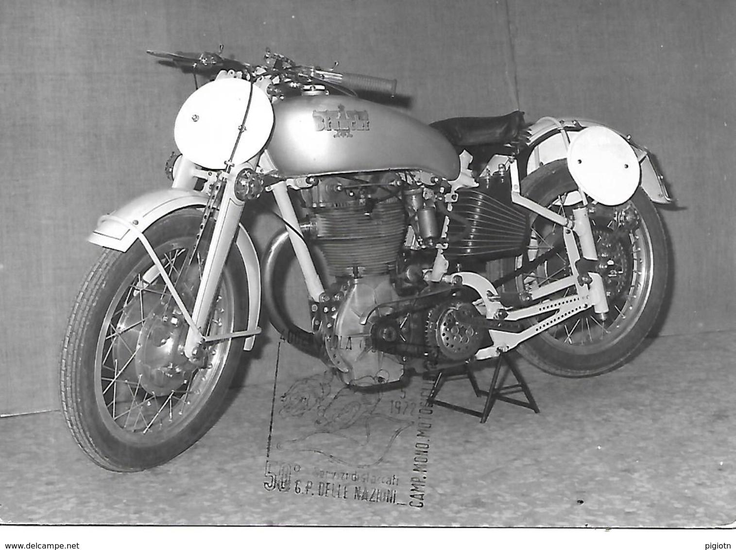 COR051 - ANNULLO IMOLA (BOLOGNA) - MOTO MOTOCICLISMO - 50° G.P. DELLE NAZIONI  - BIANCHI 500C.C. BIALBERO  -  21.05.1975 - Moto