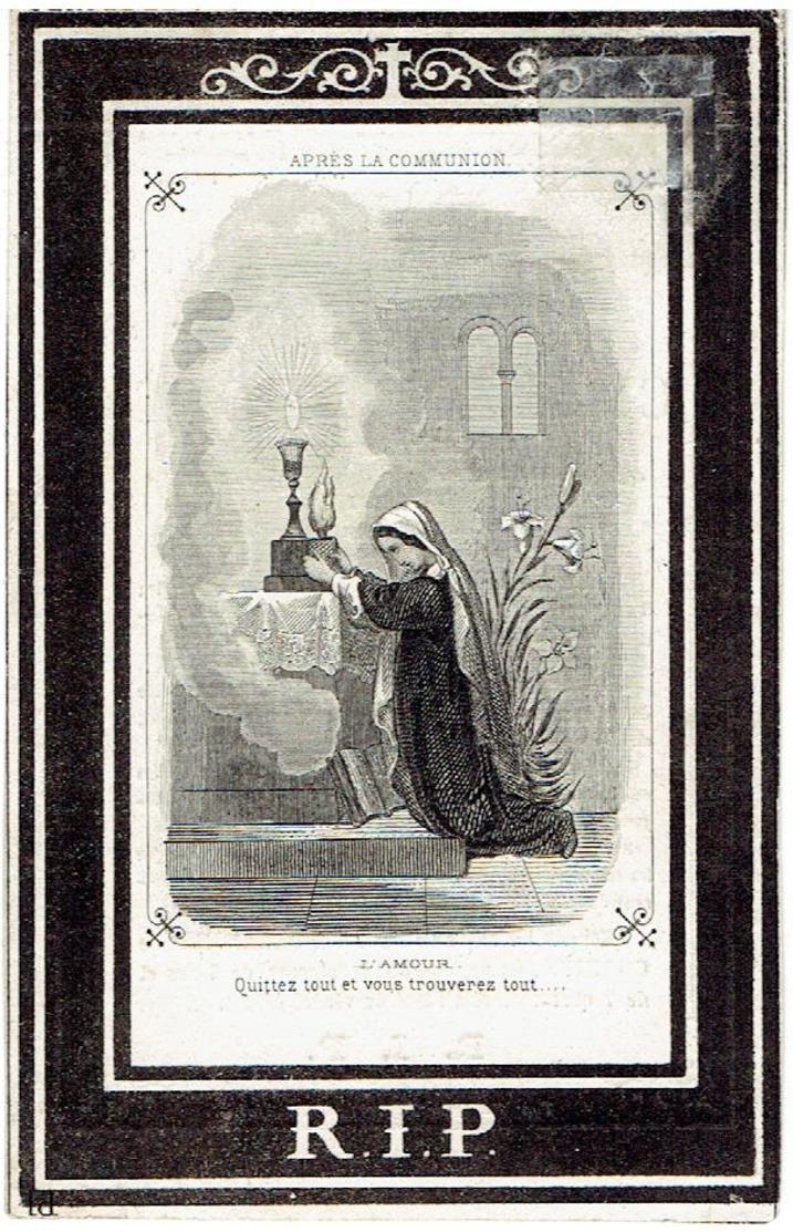 Clément CROFT - Doodsprentje - Liverpool 1806 - Courtrai 1868 - Professeur Au Collége  Saint-Amand - Devotieprenten