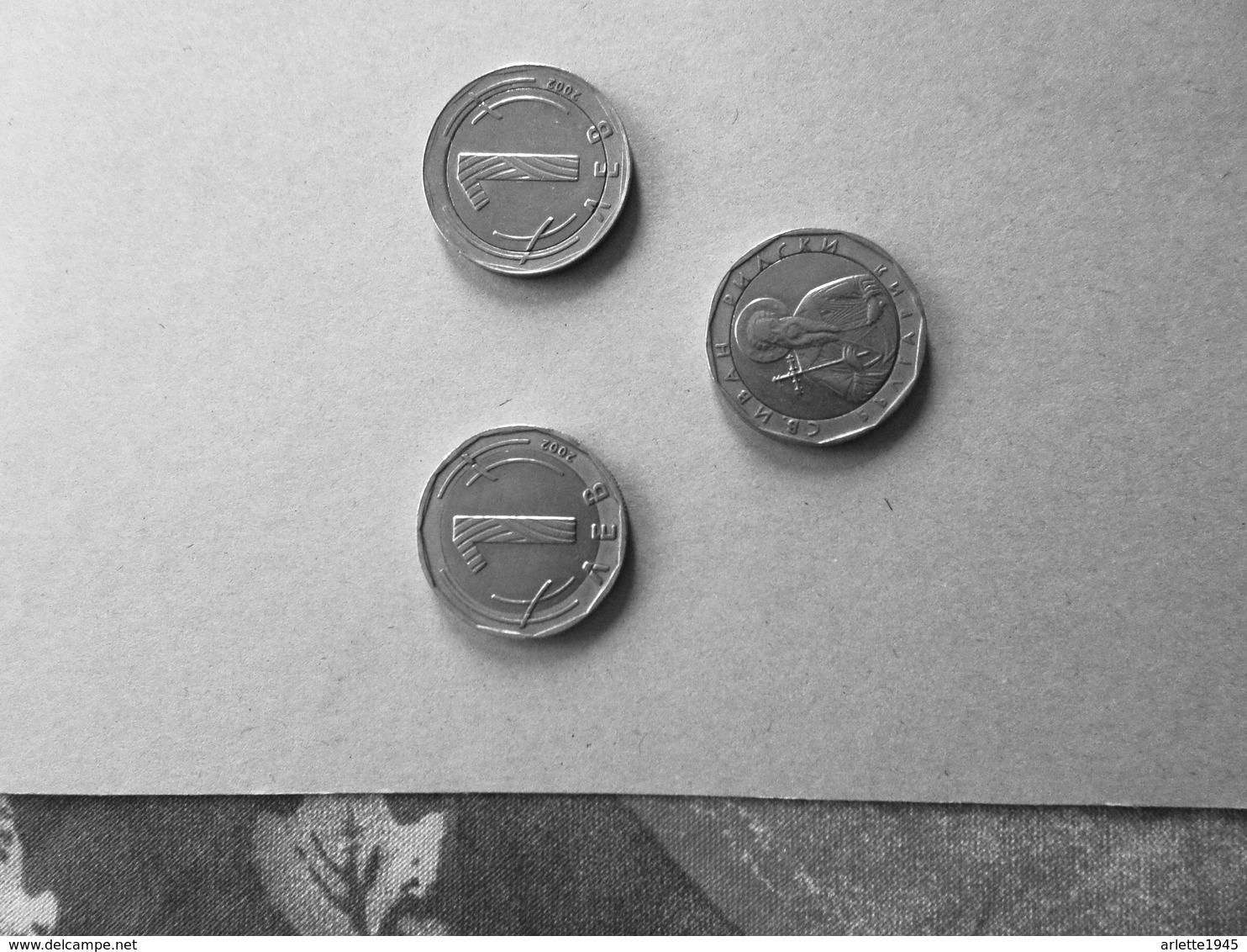 LOT 3 PIECES BULGARIE 1 Lev 2002 - Bulgaria